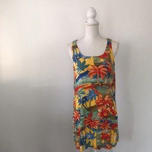 Vintage Palm Tree Print Swimsuit Swim Coverup